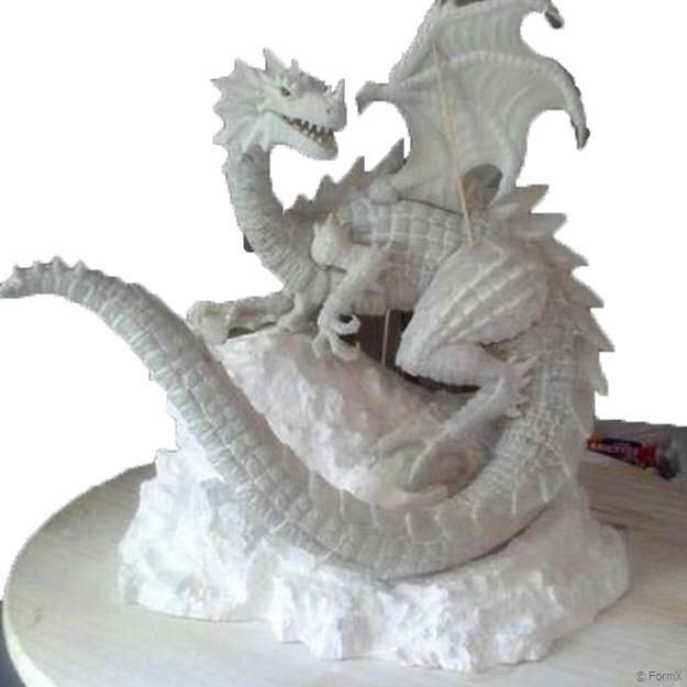 Paper Mache Projects Ideas: Kids Model Dragon | 625x625